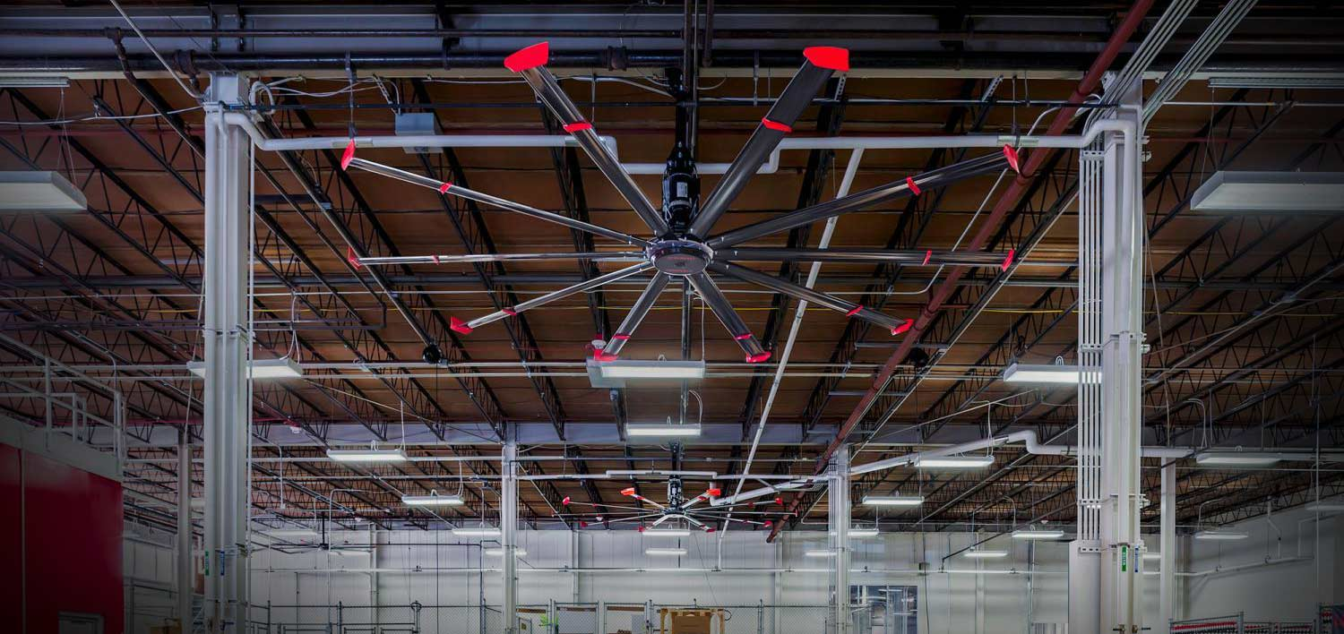 Industrial Ceiling Fans for Warehouses from Carolina Handling
