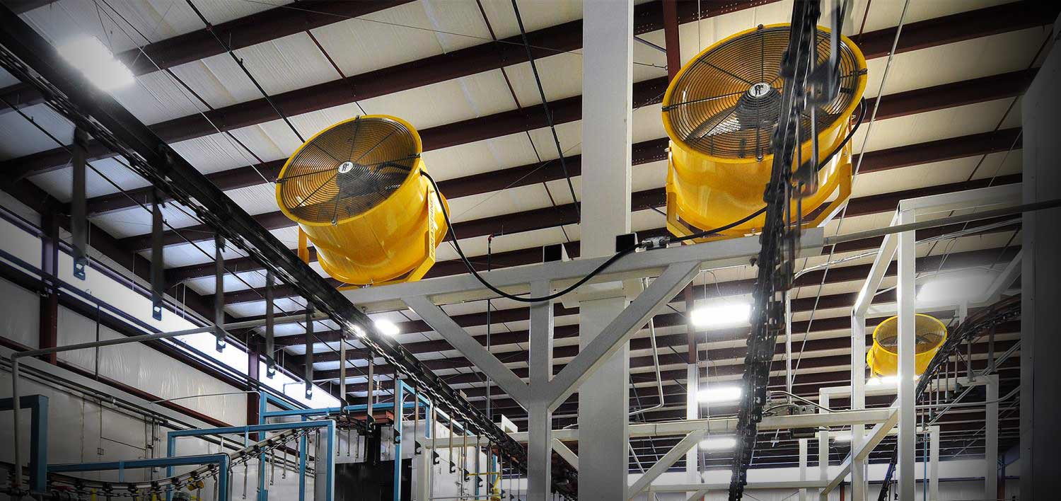Industrial Column Fans from Carolina Handling
