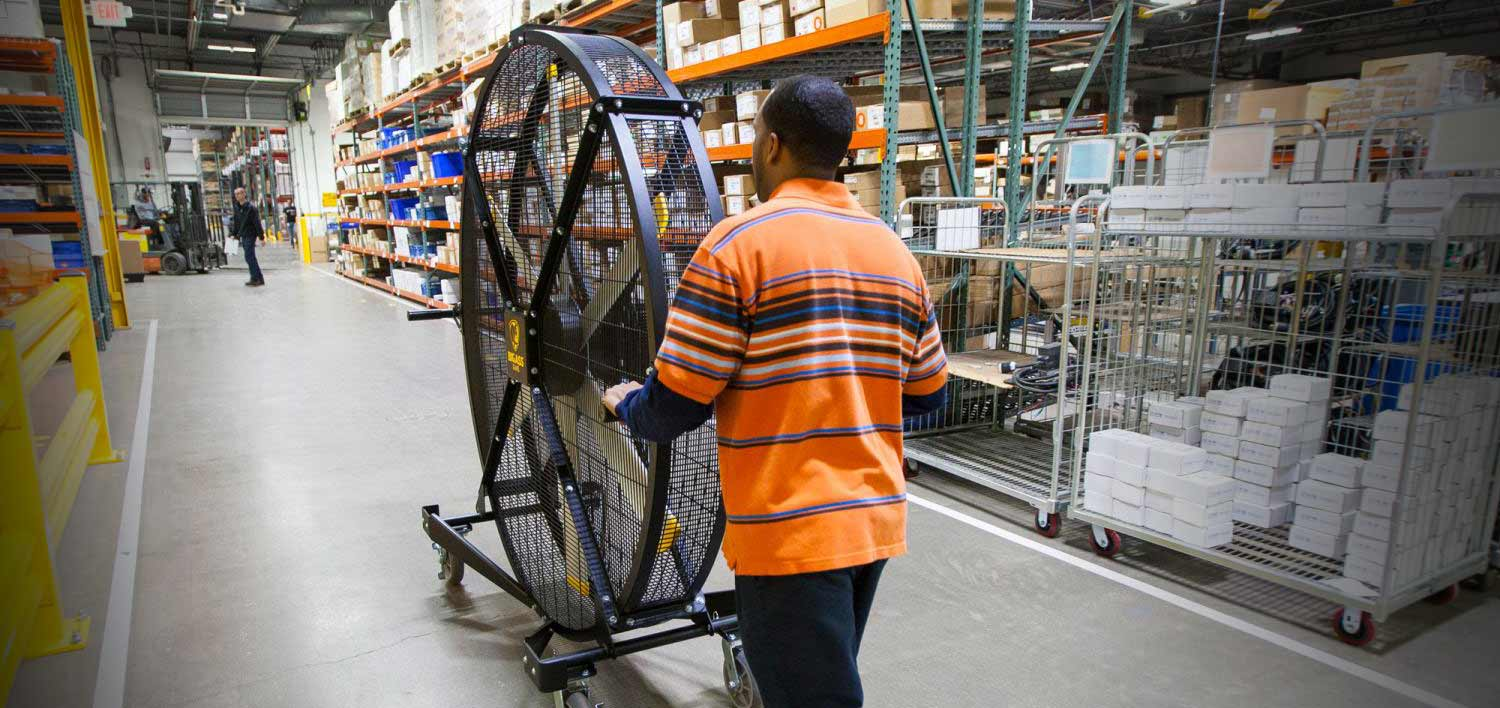 Mobile Warehouse Fans from Carolina Handling