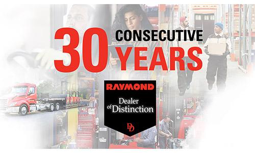30 Consecutive Years Raymond Dealer of Distinction