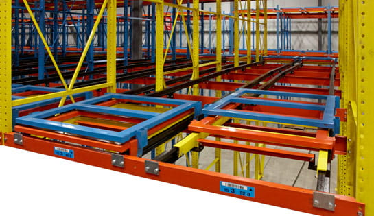 Pushback Racking Systems from Carolina Handling