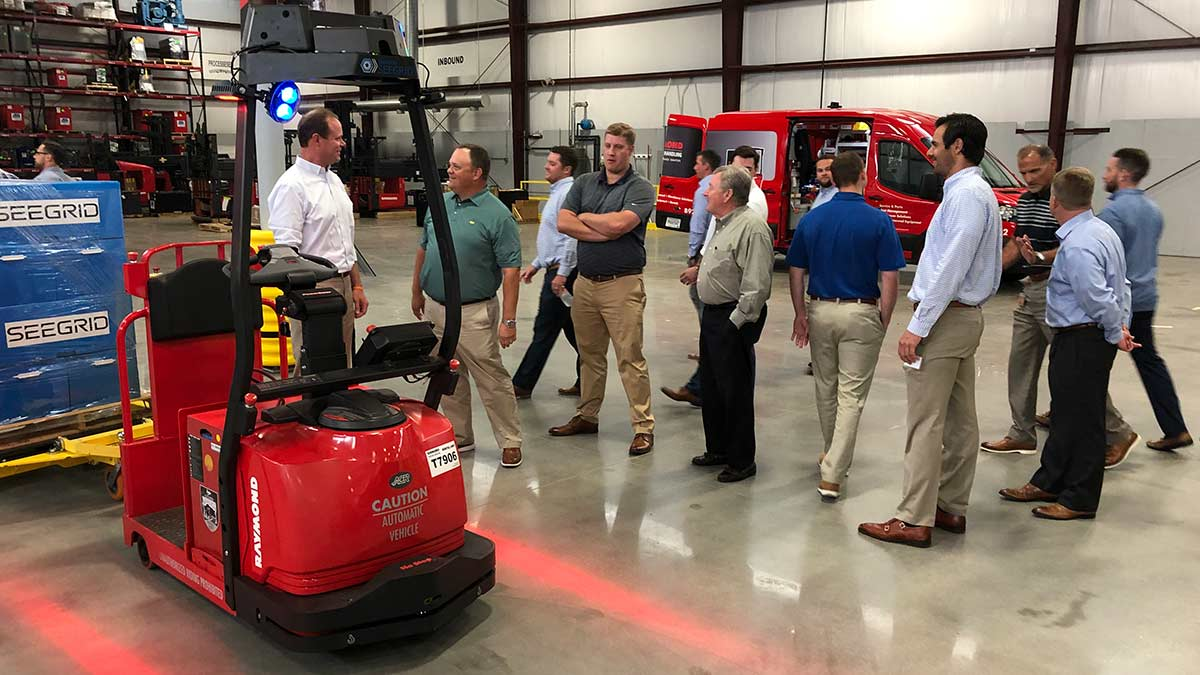 Raymond Courier Automated Tow Tractor | Carolina Handling Sales Meeting