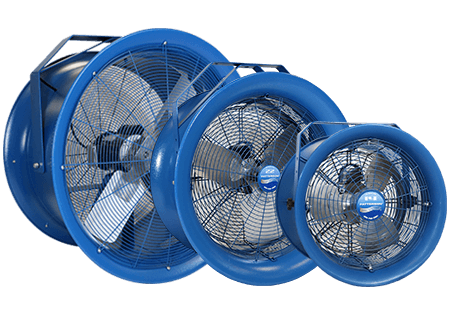 high velocity fans | warehouse fans | material handling products
