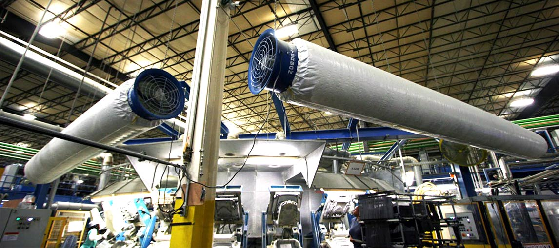 Fabric Air Ducts | Warehouse Fans | Carolina Handling