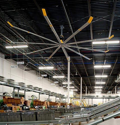 Warehouse Ceiling Fans | Big Ass Fans | Carolina Handling