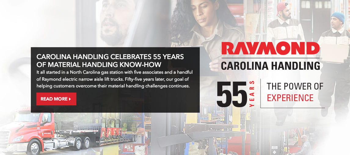 Named a Dealer of Distinction by the Raymond Corporation 30 years in a row
