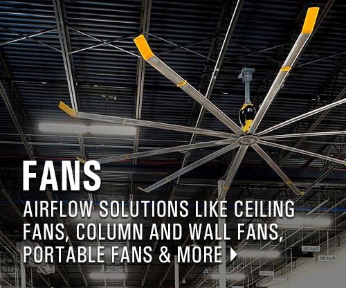 Ceiling Fans | Column Fans | Warehouse Fans