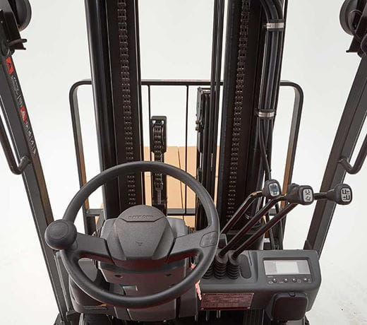sit down electric forklift