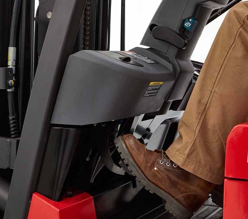 sit down Forklift brake