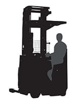 Raymond 7700 Sit Stand reach truck silhouette